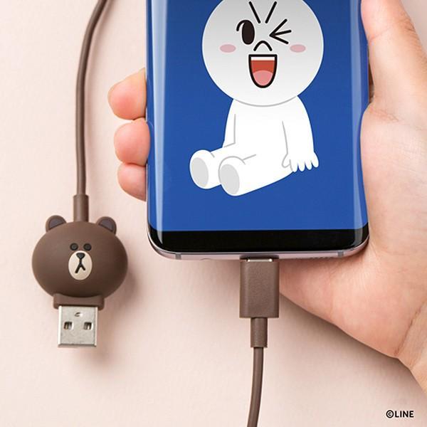 Type-Cケーブル LINE FRIENDS 充電&データ ブラウン|line-mobile|03