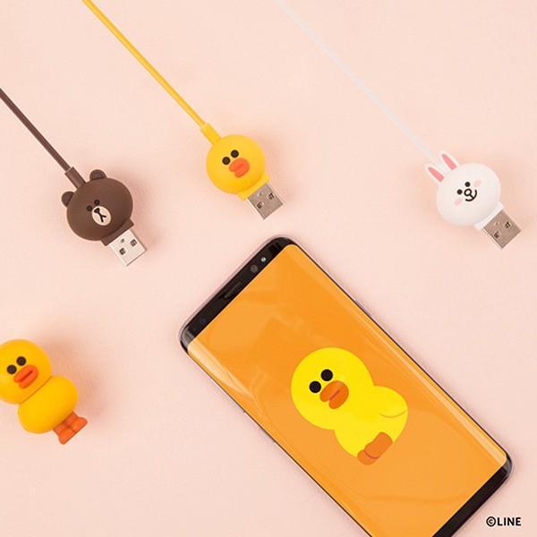 Type-Cケーブル LINE FRIENDS 充電&データ ブラウン|line-mobile|05