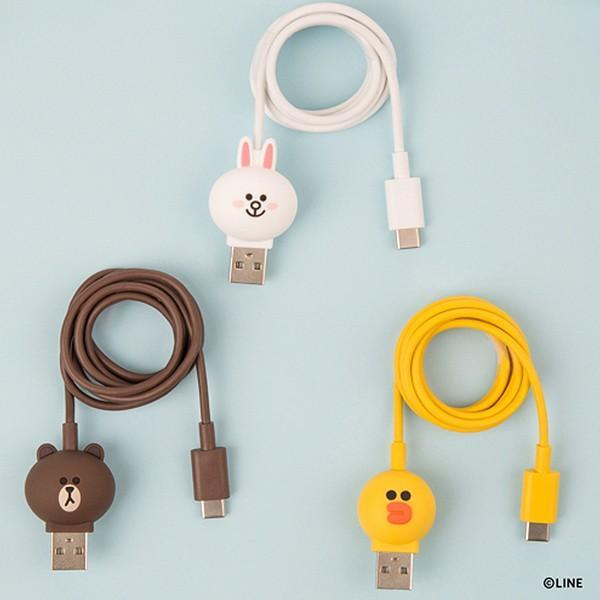 Type-Cケーブル LINE FRIENDS 充電&データ ブラウン|line-mobile|06