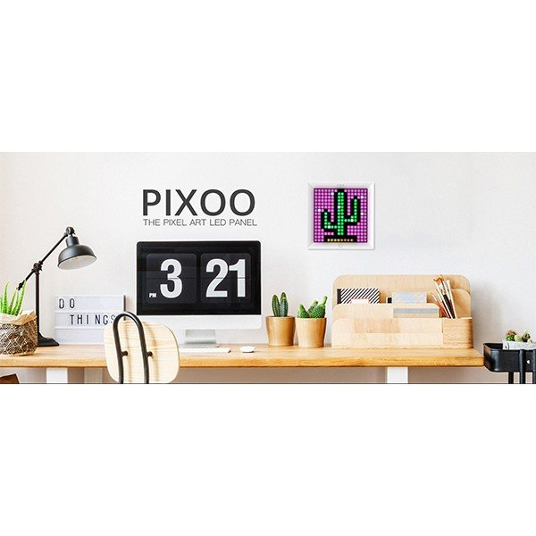 ピクセルアートフレーム PIXOO Divoom FOX White