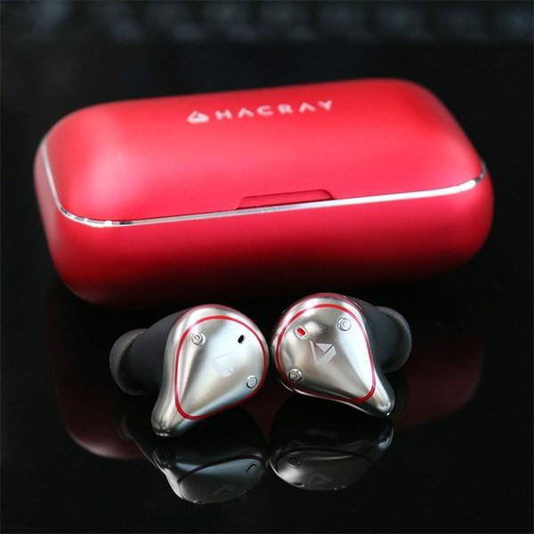 HACRAY ハクライ W1 完全ワイヤレスイヤホン レッド|line-mobile|03