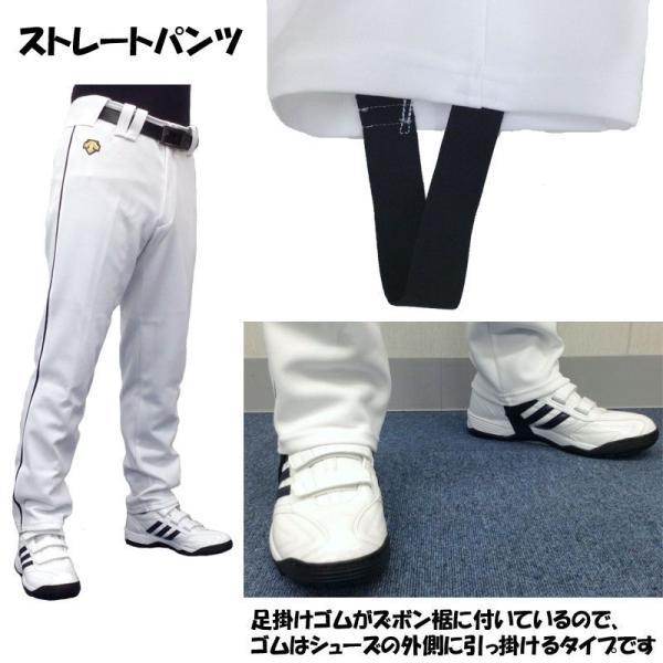 ライン加工パンツ デサント 野球 ユニフォームパンツ ストレート・ショートフィット 色:ホワイト|liner|07