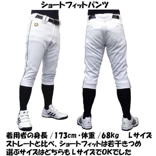 ライン加工パンツ デサント 野球 ユニフォームパンツ ストレート・ショートフィット 色:ホワイト|liner|08