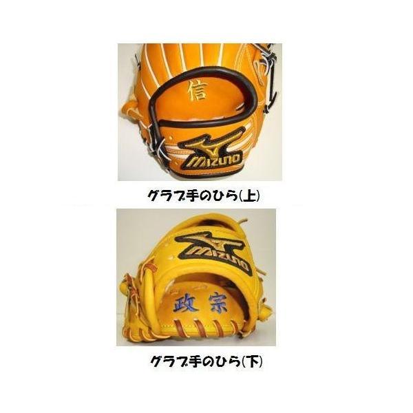 野球グラブ・グローブ 名入れ刺繍(名前入り・オンネーム) ※返品交換不可 liner 03
