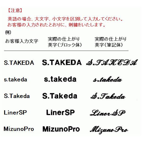 野球グラブ・グローブ 名入れ刺繍(名前入り・オンネーム) ※返品交換不可 liner 05