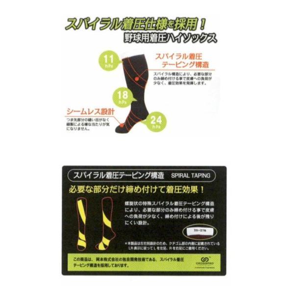 SSK 野球 スパイラル着圧ソックス 靴下 27〜29cm liner 02