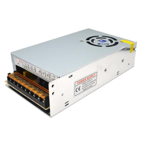 Padarsey 直流安定化電源 AC DC 20A 12V コンバーター 安全保護 回路 装置 最大 (12v 20A)|lineshonpo