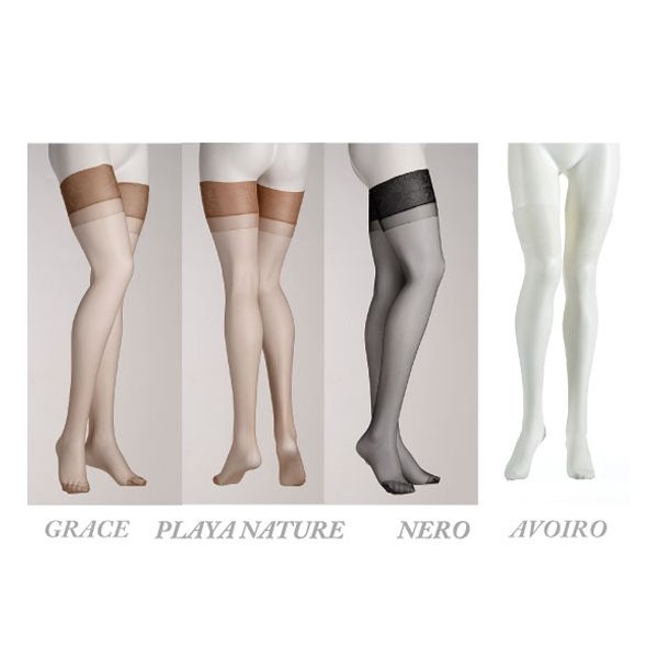 OMERO【オメロ】 インポートストッキング/CREUSA 15den ノンラン加工  つま先補強付き ガーターストッキング|lingerie-felice|02