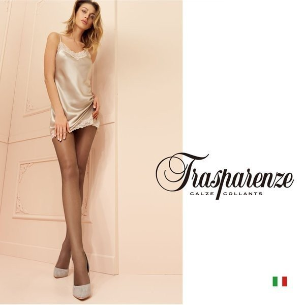 【Trasparenze(トラスパレンツェ)】  Katia 15 インポートシアータイツ  15デニール 極薄ストッキング  フラットシーム シアータイツ|lingerie-felice
