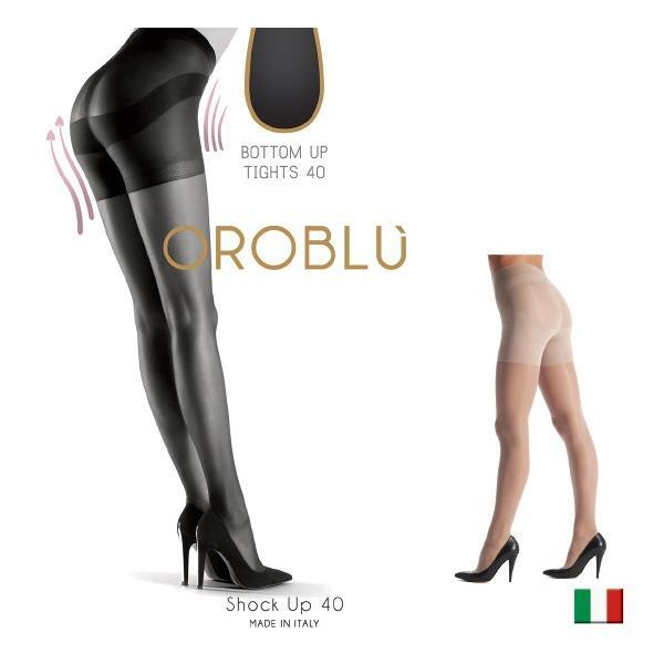 OROBLU/オロブル ショックアップ/shock up 40/イタリア製 インポート オールシーズン/つま先フラットシーム補強 シェイプアップガードル付き lingerie-felice