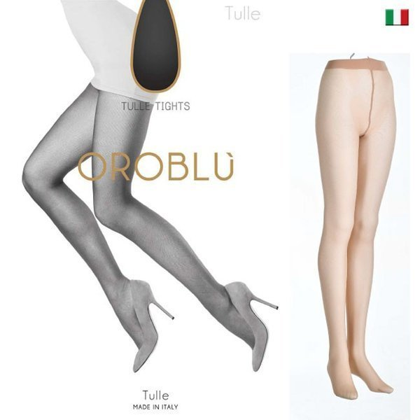 【OROBLU】(オロブル)  TULLE インポートタイツ インポートストッキング 極薄ストッキング パンストオールスルー ストッキングオールスルー チュール|lingerie-felice