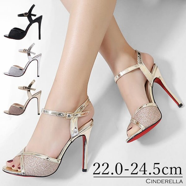 bf4967b7c5594 サンダル レディース 11cmヒール 靴 パーティー 結婚式 20代 30代 キャバ ミュール オープントゥ ...