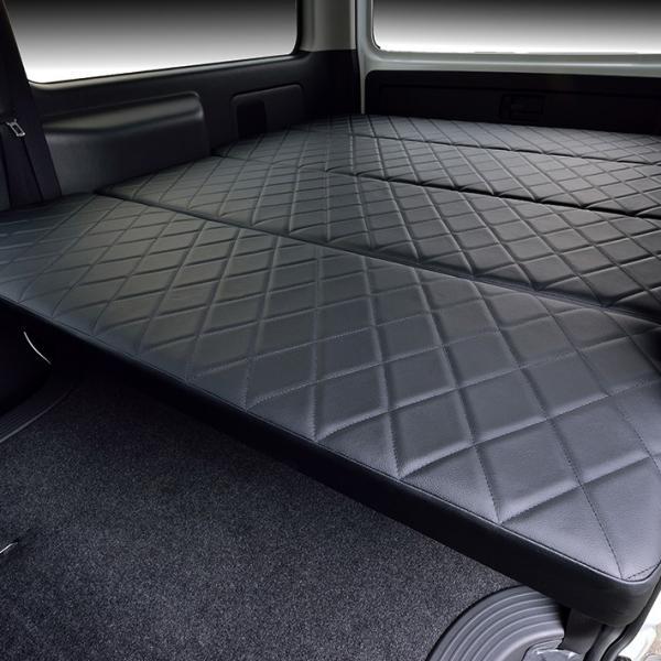 ハイエース200系 ベッドキット 標準S-GL flat4 DDP 送料無料キャンペーン 45mmクッション 1型〜5型対応|linksfactoryjp|05