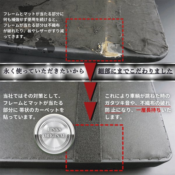 ハイエース200系 ベッドキット 標準S-GL flat4 DDP 送料無料キャンペーン 45mmクッション 1型〜5型対応|linksfactoryjp|08