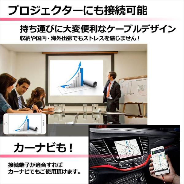 HDMI変換アダプタ Lightning HDMI iPhone iPad 対応 ライトニングケーブル スマホ 高解像度 ゲーム カーナビ 画像 動画 TV|linofle|05