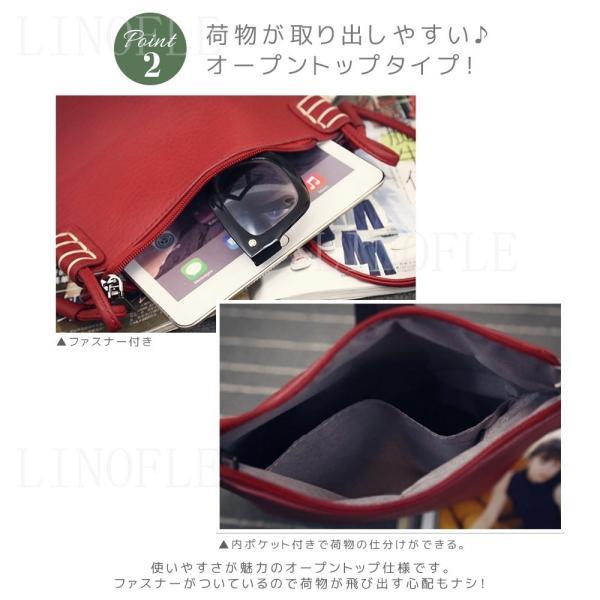 ショルダーバッグ レディース 斜め掛け 軽量 ミニ バッグ 小さめ シンプル おしゃれ かわいい PU レザー 全5色|linofle|07