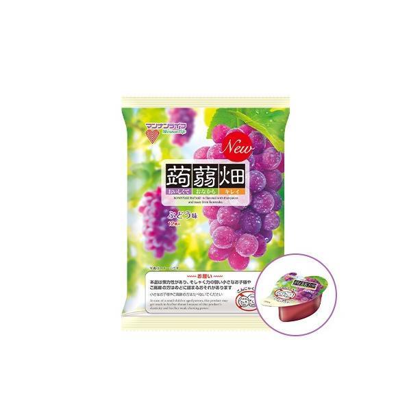 送料無料 マンナンライフ 蒟蒻畑 ぶどう味 25g×12個入×1箱(12袋)