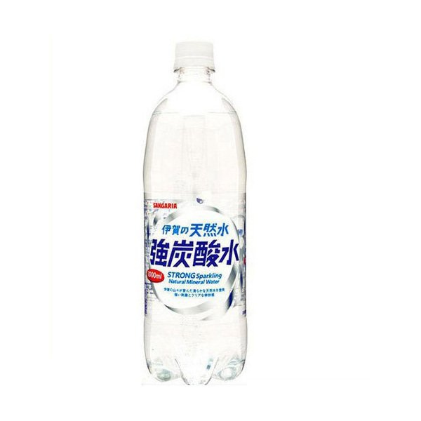炭酸水サンガリア伊賀の天然水強炭酸水1000ml1L×12本/1ケースあすつく
