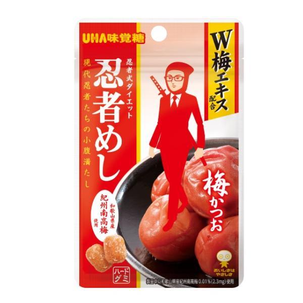 送料無料 【ネコポス便】 UHA味覚糖 忍者めし 梅かつお味 20g×10袋【メール便にてお届けします】