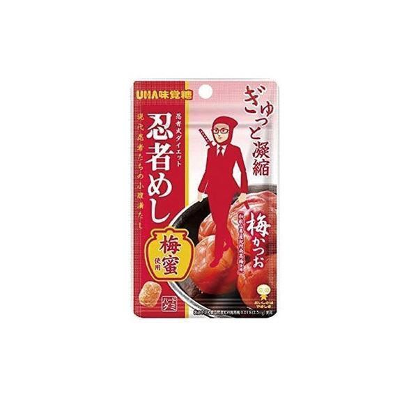 送料無料 【ネコポス便】 UHA味覚糖 忍者めし 梅かつお味 20g×20袋【メール便にてお届けします】