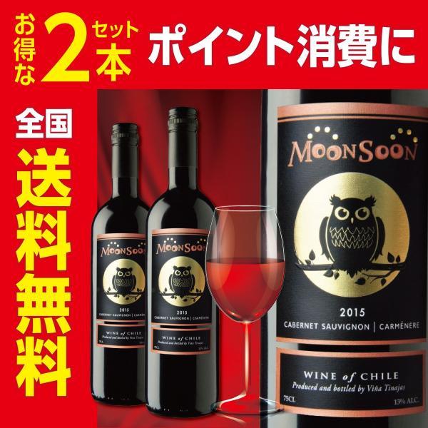 赤ワイン チリ モンスーン カベルネソーヴィニヨン&カルメネール 750ml 2本セット 全国送料無料 ポイント消費 ポイント消化に|liquorgto