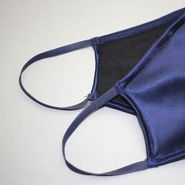 コットンクラブ  家庭用 おしゃれマスク 予防 シルク ネイビー イタリア製 当商品はクリックポスト対応、送料無料でお送りします。 lisecharmel 04