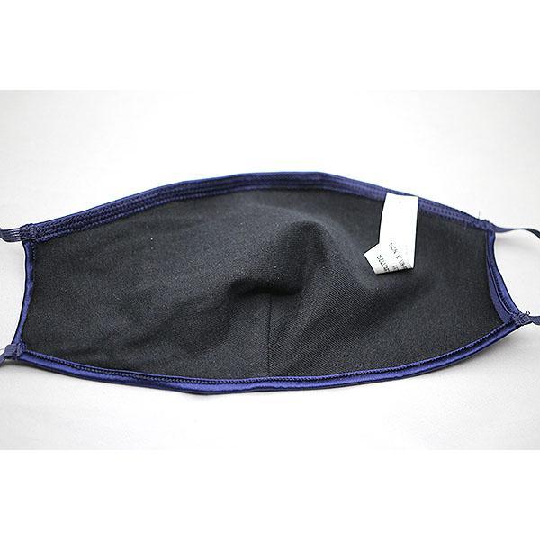 コットンクラブ  家庭用 おしゃれマスク 予防 シルク ネイビー イタリア製 当商品はクリックポスト対応、送料無料でお送りします。 lisecharmel 05