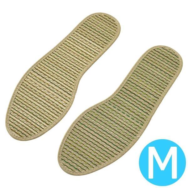 大島屋 ナチュラルシリーズ い草インソール 不織布タイプ(女性用) ストライプ柄 NA Mサイズ(約23〜23.5cm)