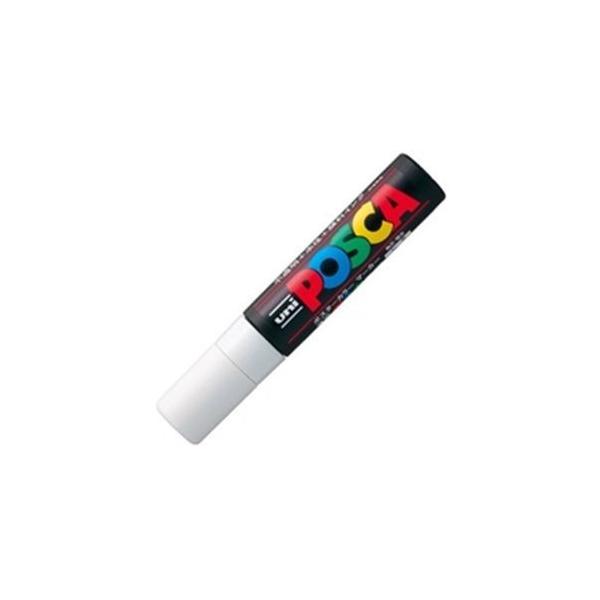 (業務用10セット)三菱鉛筆 ポスカ/POP用マーカー 〔極太/白〕 水性インク PC-17K.1