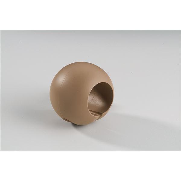 〔10個セット〕階段手すり滑り止め 『どこでもグリップ』ボール形 軟質樹脂 直径32mm ブラウン シロクマ 日本製