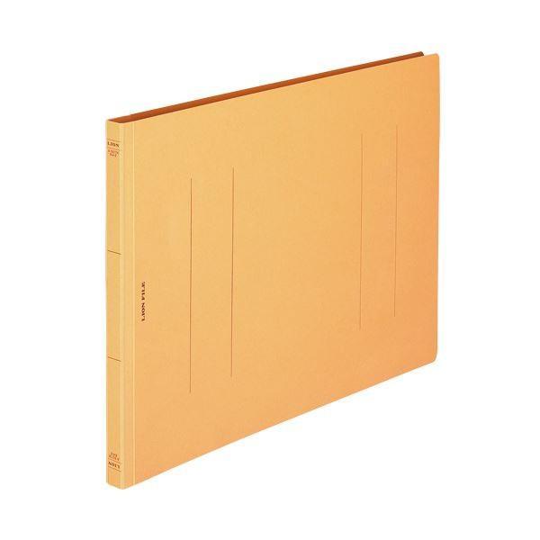 (まとめ) ライオン事務器 フラットファイル(環境) 樹脂押え具 B4ヨコ 150枚収容 背幅18mm 黄 A-507KB4E 1セット(10冊) 〔×5セット〕