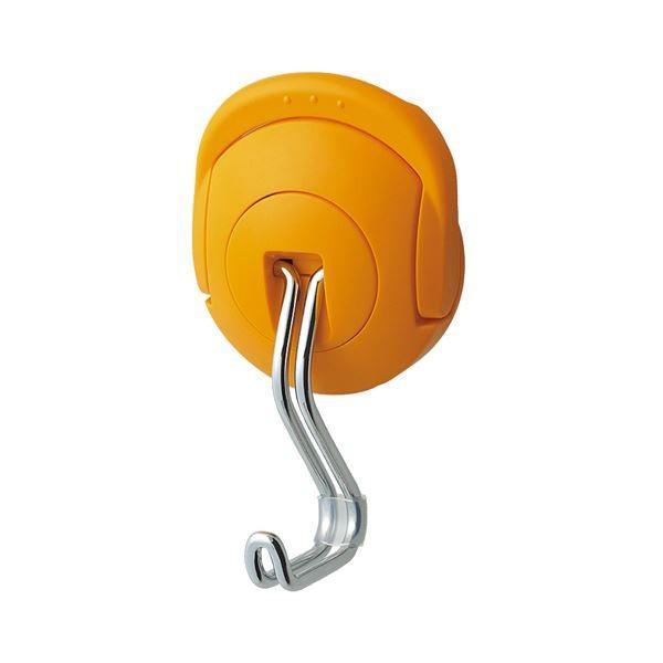 (まとめ) コクヨ 超強力マグネットフック(タフピタ) 耐荷重約10kg オレンジ フク-227YR 1個 〔×5セット〕
