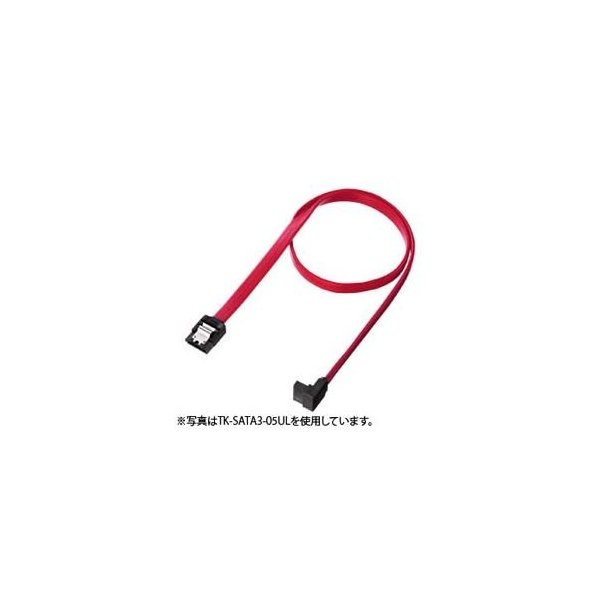 (まとめ)サンワサプライ 上L型シリアルATA3ケーブル TK-SATA3-03UL〔×3セット〕