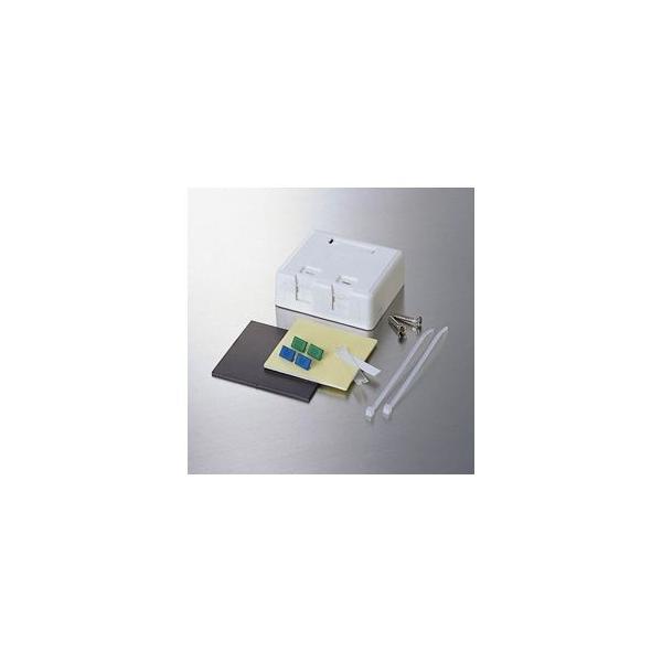 (まとめ)エレコム 1ポートローゼットキット LD-6RKIT2〔×2セット〕