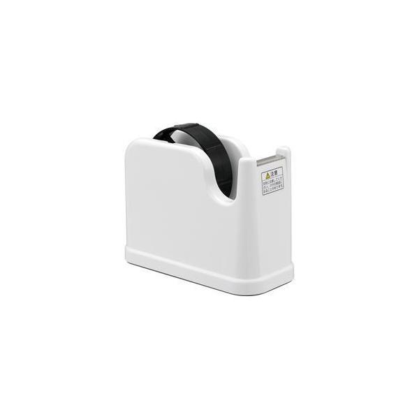 (まとめ) テープカッター ホワイト NTC-201W 〔×10セット〕