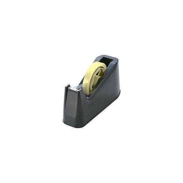 (まとめ) テープカッター ブラック 〔×10セット〕