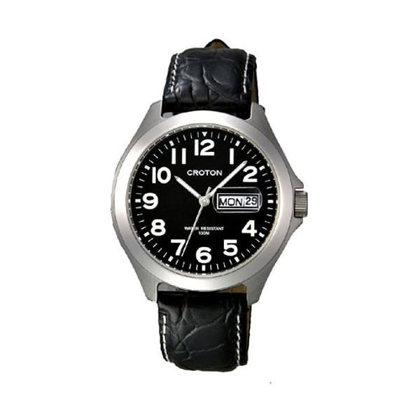 CROTON(クロトン) 腕時計 3針 デイデイト 10気圧防水 RT-144M-1