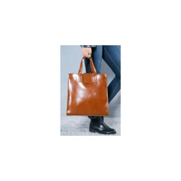 ビジネス仕様 カッチリタイプのシンプルトートバッグ/ブラック