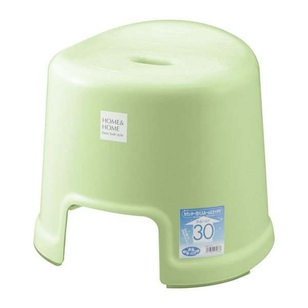 〔16セット〕 シンプル バスチェア/風呂椅子 〔300 パステルグリーン〕 すべり止め付き 材質:PP 『HOME&HOME』〔代引不可〕