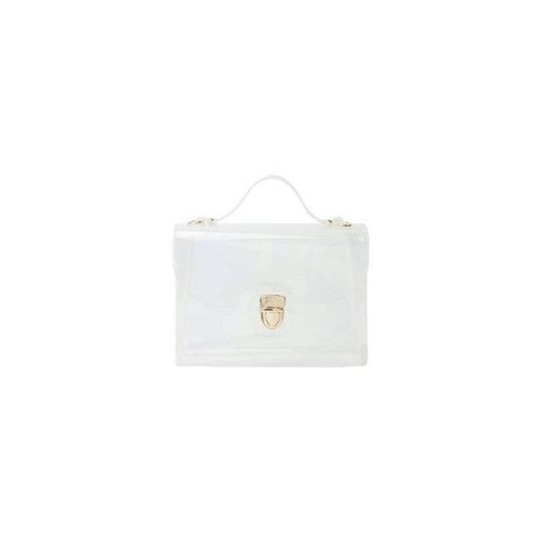 人気のクリアバッグ スクエアが可愛いショルダー用チェーン付ハンドバッグ