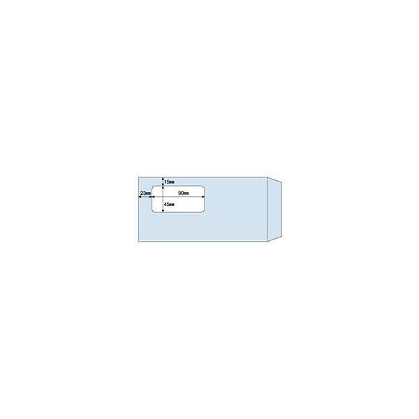 (まとめ)ヒサゴ 窓つき封筒 A4三ツ折用 アクアMF16 1箱(100枚) 〔×3セット〕