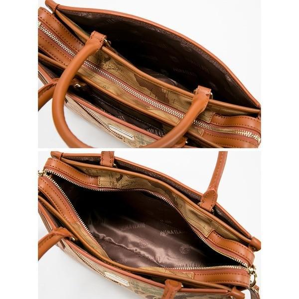 PRIMA CLASSE(プリマクラッセ) PSH8-3144 ファスナー付ポケットがついたデザイントートバッグ/ブラウン
