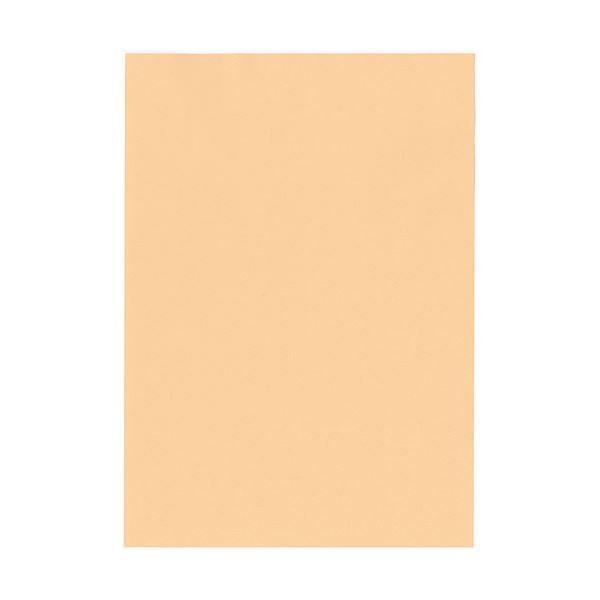 (まとめ)北越コーポレーション 紀州の色上質A4T目 薄口 びわ 1箱(4000枚:500枚×8冊)〔×3セット〕