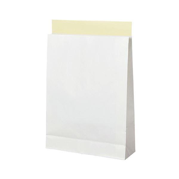 (まとめ)TANOSEE 宅配袋 晒片つや 大 白封かんテープ付 1パック(100枚)〔×3セット〕
