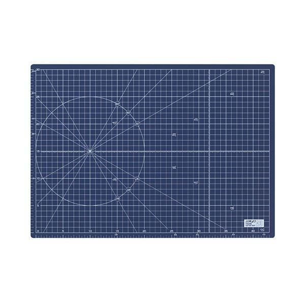 (まとめ) オルファ ふたつ折りカッターマット A3 ネイビー (文具専用) 223BSNV 1枚 〔×5セット〕
