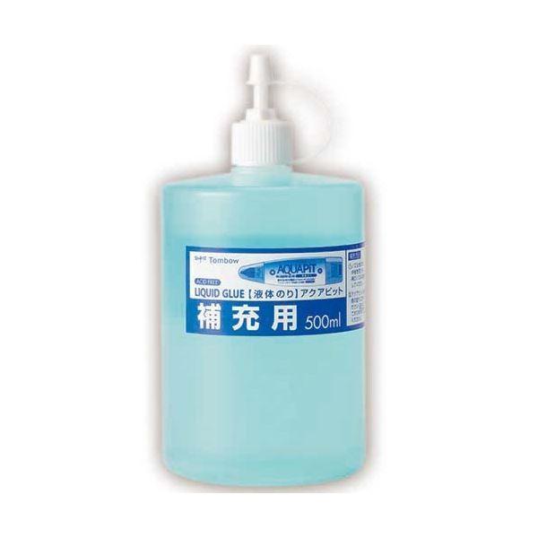 (まとめ) トンボ鉛筆 液体のり アクアピット 補充用 500ml PR-WT 1個 〔×30セット〕