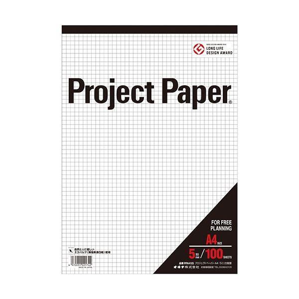 (まとめ) オキナ プロジェクトペーパー A4 5mm方眼 100枚 PPA45S 1冊 〔×30セット〕