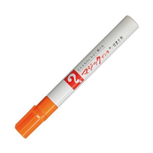 (まとめ) 寺西化学 油性マーカー マジックインキNo.500(細書き用) 橙 M500-T7 1本 〔×100セット〕