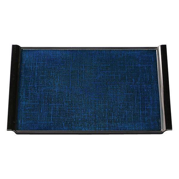 尺4 布目エアートレー/おぼん 〔ブルーかすりSL〕 425×333×20mm 日本製 〔和食 レストラン 店舗 お店〕〔代引不可〕