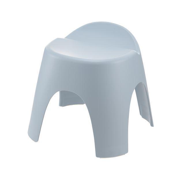 バスチェア/風呂椅子 〔座面高30cm ブルー〕 日本製 抗菌成分 銀イオン リッチェル アライス 腰かけ 〔バスルーム お風呂〕